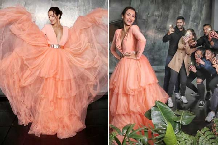 IIFM 2019: Malaika Arora Sizzles in Peach Ruffled Gown